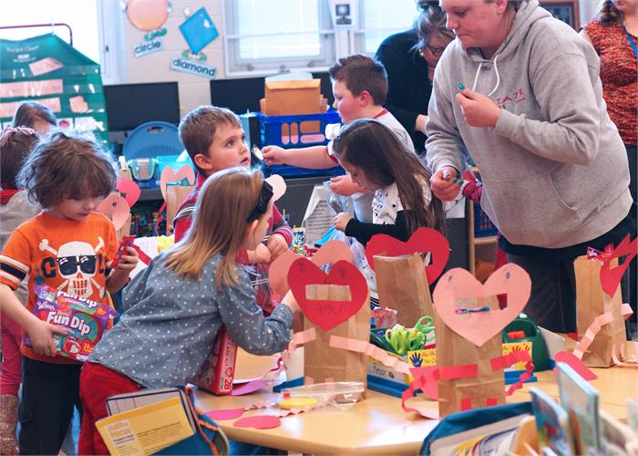 Valentine's Day Parties in the Elementary Building