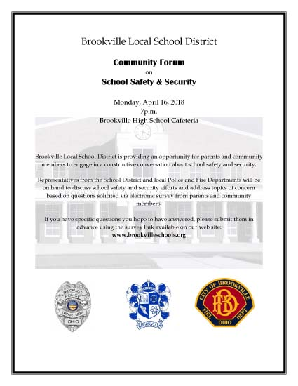 Brookville Local School District School Safety & Security Community Forum