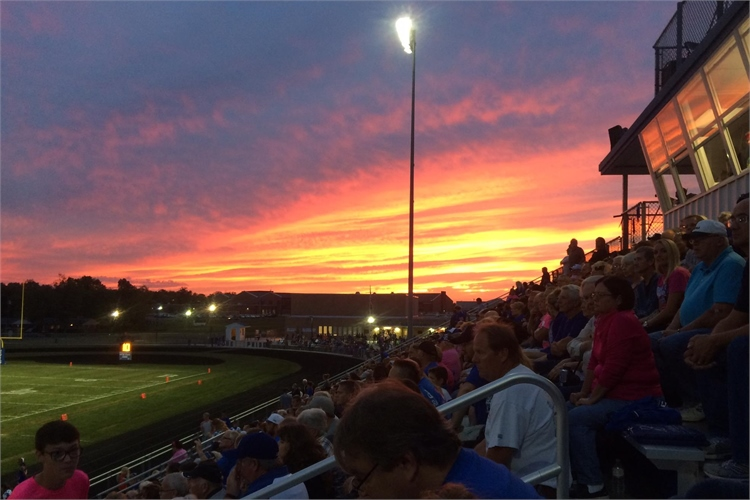 A beautiful night for a football game