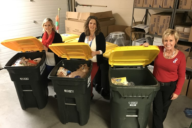 Congratulations to the winning teams led by Mrs. Staggs, Mrs. Cera and Mrs. Loughman in our staff food drive! Together, our staff donated 2600 lb in food.