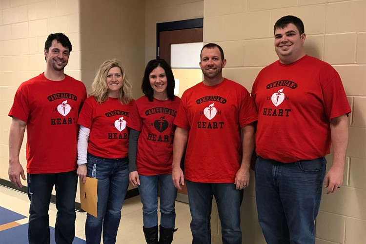 BHS Staff Goes RED for the American Heart Association