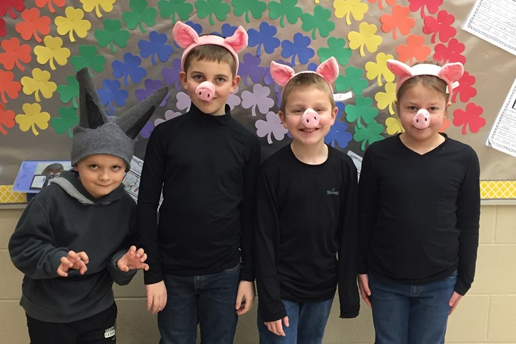 BES Students Dressed Up as Their Favorite Characters During Right to Read Week