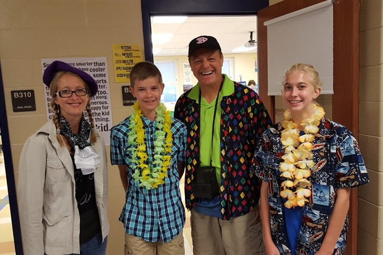 """Tourists"" on Spirit Day at BHS"