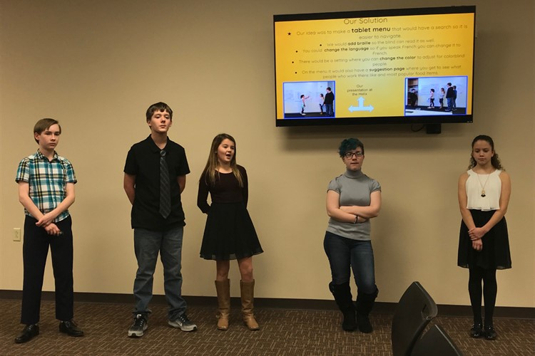 6th Graders Presenting to the Board of Education