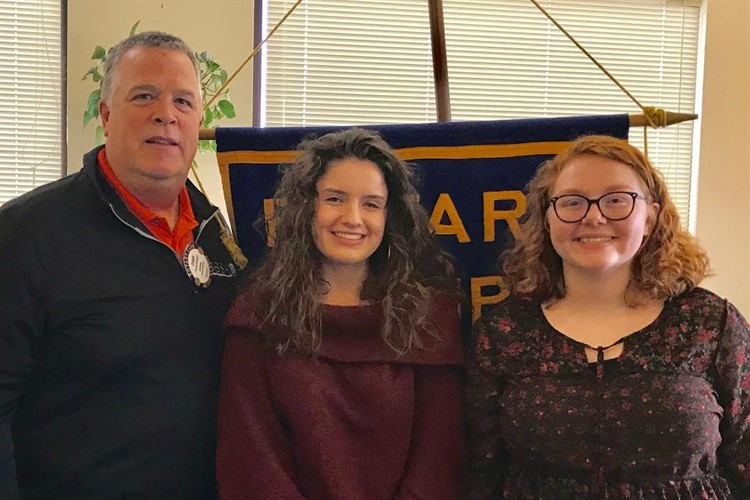 November Rotary Students of the Month - Emily & Hannah