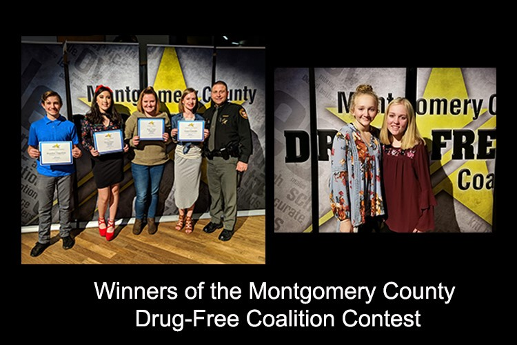 Winners of the Montgomery County Drug-Free Coalition Contest