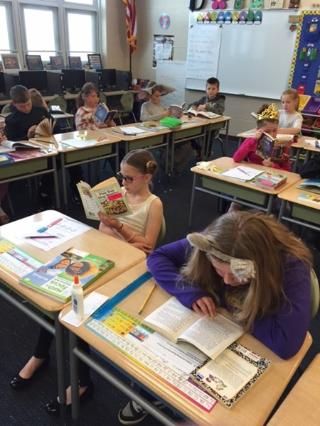 Scenes from the BES Right to Read Week activities