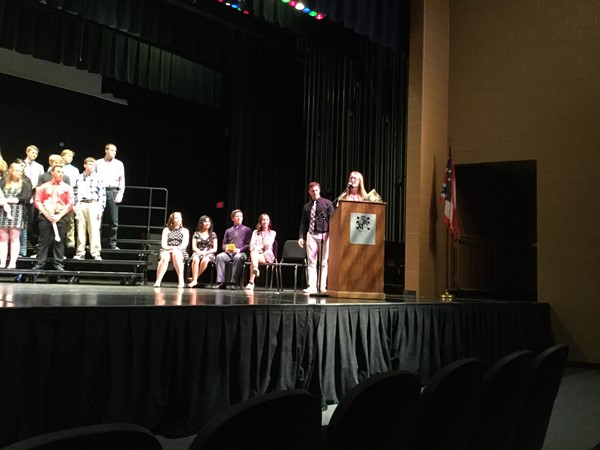 The 2016 annual ceremony inducting the new members to the National Honor Society