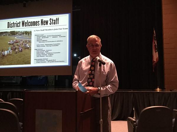 Mr. Requarth - Opening Day for Staff